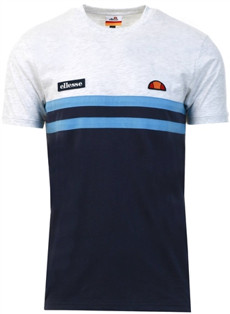 Ellesse White Marl Venire Short Sleeve T-Shirt  - Click to view a larger image