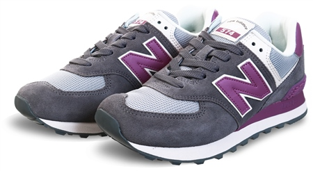 New Balance Castlerock With Kite Purple 574 Mesh Trainer  - Click to view a larger image