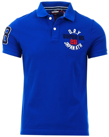 Superdry Vivid Cobalt Classic Superstate Polo Shirt  - Click to view a larger image