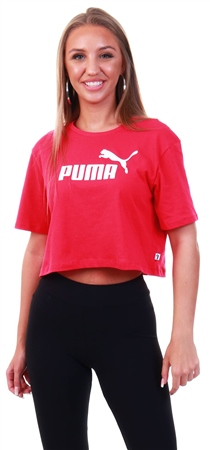 Puma Bright Rose Essentials+ Cropped Women's Tee  - Click to view a larger image