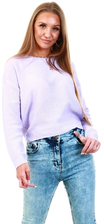 Brave Soul Lilac Grunge Knit Jumper  - Click to view a larger image