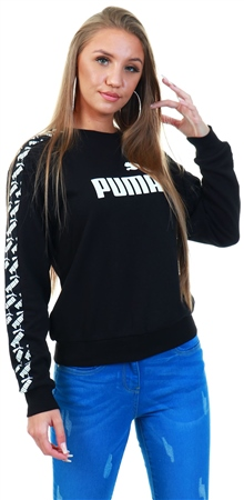 Puma Black Amplified Crew Sweat  - Click to view a larger image