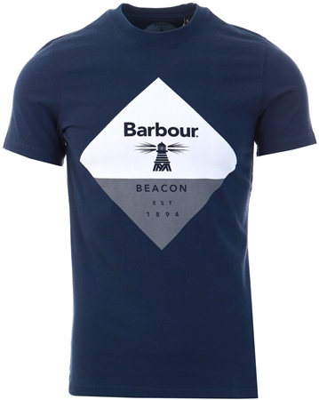 Barbour Beacon Navy Diamond T-Shirt  - Click to view a larger image