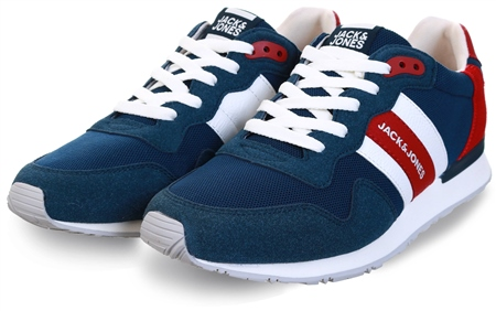 Jack & Jones Blue / Majolica Blue Mesh Sneakers  - Click to view a larger image