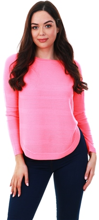 Only Neon Pink Loose Fit Knitted Pullover  - Click to view a larger image