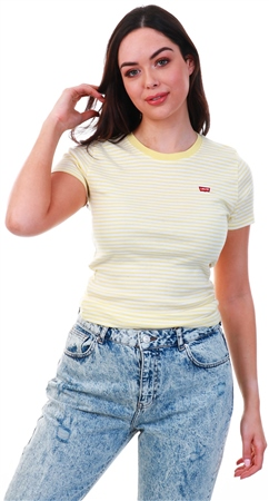 Levi's Banana Yellow - Stripe Perfect Tee  - Click to view a larger image