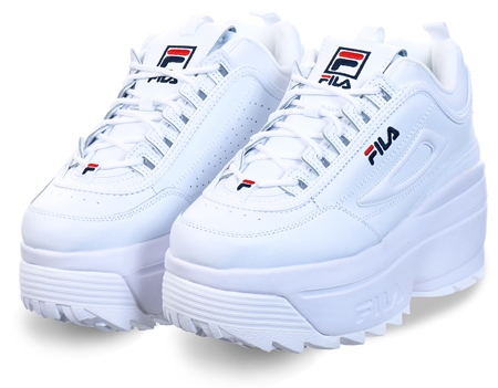 Fila White Disruptor Wedge Trainer  - Click to view a larger image