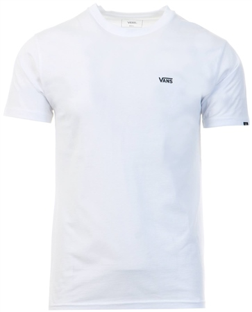 Vans White Left Chest Logo T-Shirt  - Click to view a larger image