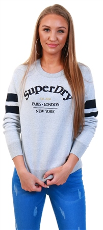 Superdry Ice Marl Amy Logo Knit  - Click to view a larger image