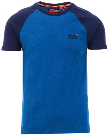 Superdry Blue Classic Baseball T-Shirt  - Click to view a larger image