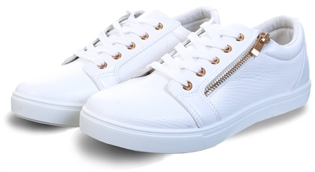 Krush White Textured Lace Up Trainer  - Click to view a larger image