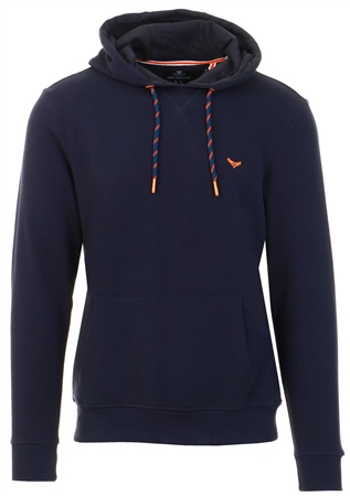 Threadbare Navy Pull Over Hoodie  - Click to view a larger image
