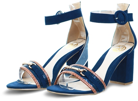 Dv8 Navy Barely There Block Heel  - Click to view a larger image
