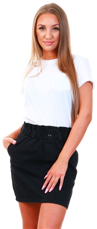 Brave Soul White Crew Short Sleeve Tee  - Click to view a larger image