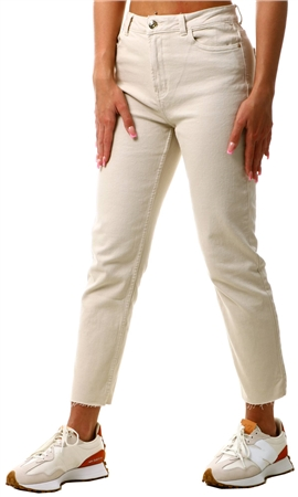 Only Stone / Ecru Emily High Waist Straight Jeans  - Click to view a larger image