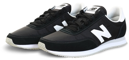 New Balance Black With White 720 Suede Panel Trainer  - Click to view a larger image