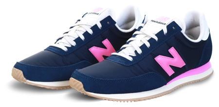 New Balance Natural Indigo With Desert Pink 720 Suede Panel Trainer  - Click to view a larger image