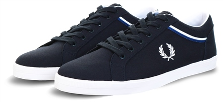 Fred Perry Navy Baseline Twill Trainer  - Click to view a larger image
