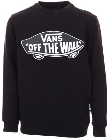 Vans Black-White Outline Boys Otw Crew Sweater  - Click to view a larger image