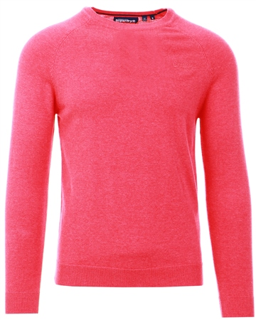 Superdry Ancona Pink Grindle Orange Label Cotton Jumper  - Click to view a larger image