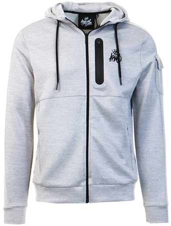 Kings Will Dream Grey Marl Avell Zip Pocket Hoodie  - Click to view a larger image