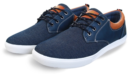 Lloyd & Pryce Denim Mix Laced Shoe  - Click to view a larger image