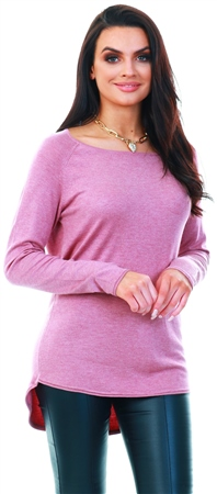 Only Pink / Mesa Rose Long Knitted Pullover  - Click to view a larger image