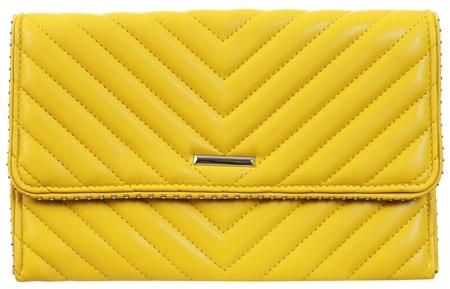 Koko Yellow Panel Stud Clutch Bag  - Click to view a larger image