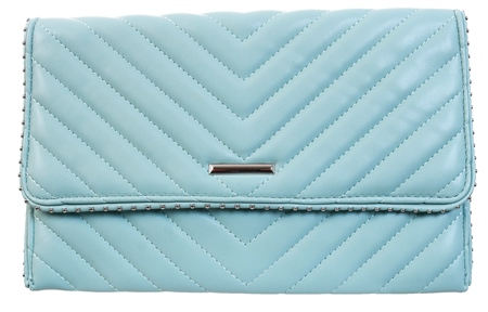 Koko Mint Panel Stud Clutch Bag  - Click to view a larger image