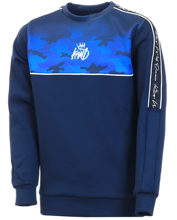 Kings Will Dream Navy Junior Mector Fade Sweatshirt  - Click to view a larger image