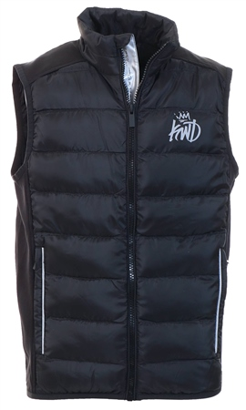 Kings Will Dream Black Fulton Gilet  - Click to view a larger image