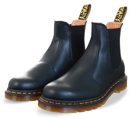Dr Martens Black 2976 Smooth Leather Chelsea Boots  - Click to view a larger image