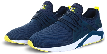 Certified Navy / Lime Ct 800 Mens Trainer  - Click to view a larger image