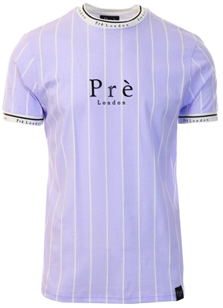 Pre London Lilac/White Pinstripe Power Tee  - Click to view a larger image