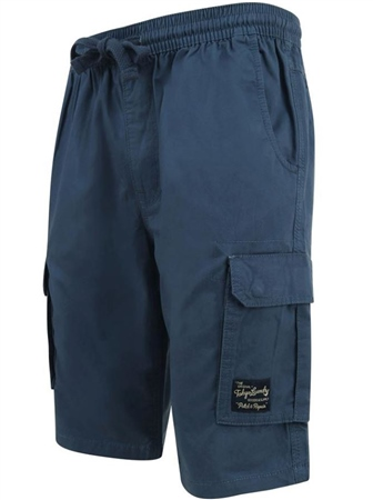 Tokyo Laundry Dark Denim Benson Cargo Shorts  - Click to view a larger image