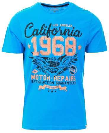Sth Shore Swedish Blue Eagle Calif Motif Cotton Jersey  - Click to view a larger image