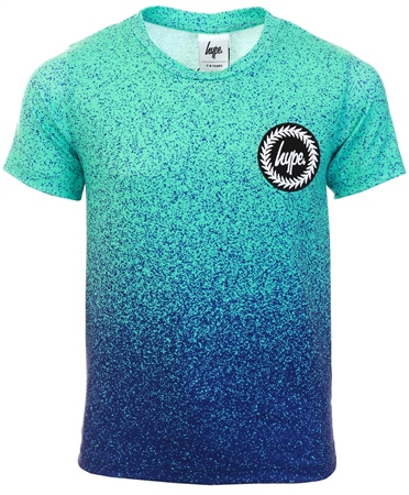 Hype Blue Speckle Fade Kids T-Shirt  - Click to view a larger image