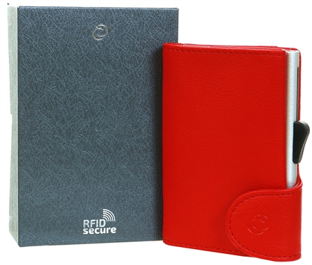 C Secure Red Cardholder Wallet  - Click to view a larger image