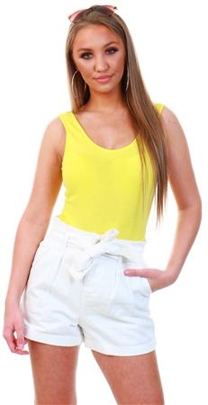 Veromoda Yellow / Aurora Sleeveless Body  - Click to view a larger image