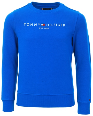 Tommy Jeans Lapis Lazuli Essential Logo Pure Cotton Sweatshirt  - Click to view a larger image