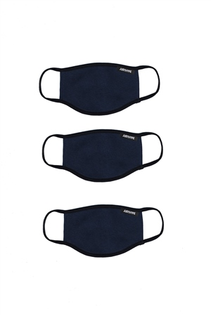 Hype Navy 3x Adult Face Mask Set  - Click to view a larger image