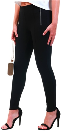 Veromoda Black / Black High Waisted Leggings  - Click to view a larger image