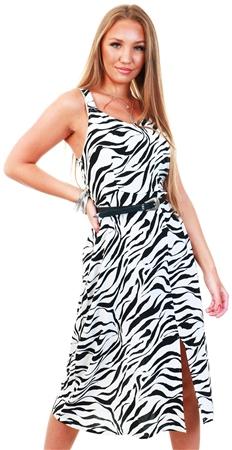 Veromoda Black/Zanzana Sleeveless Maxi Dress  - Click to view a larger image