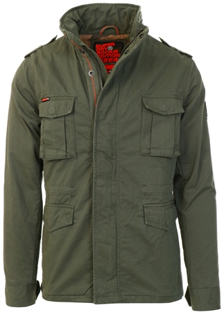Superdry Army Green Classic Rookie Jacket  - Click to view a larger image