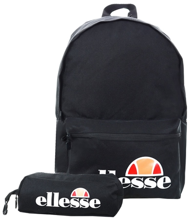 Ellesse Black Rolby Backpack & Pencil Case  - Click to view a larger image