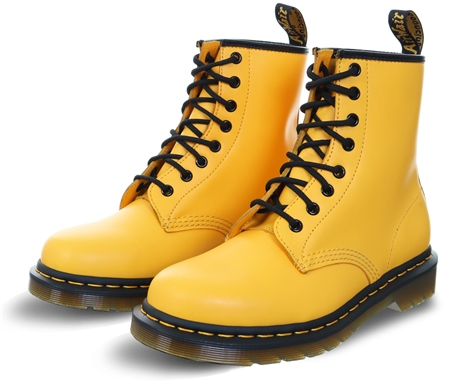 Dr Martens Yellow 1460 Smooth Leather Ankle Boots  - Click to view a larger image