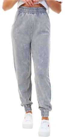 Goodfornothing Grey Acid Wash Jogger  - Click to view a larger image