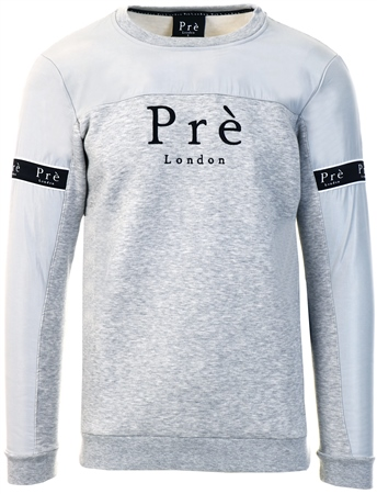 Pre London Grey Marl Crew Eclipse Sweater  - Click to view a larger image