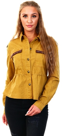 Only Yellow / Cumin Detailed Jacket  - Click to view a larger image