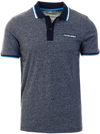 Jack & Jones Navy Blazer Train Slim Polo Shirt  - Click to view a larger image